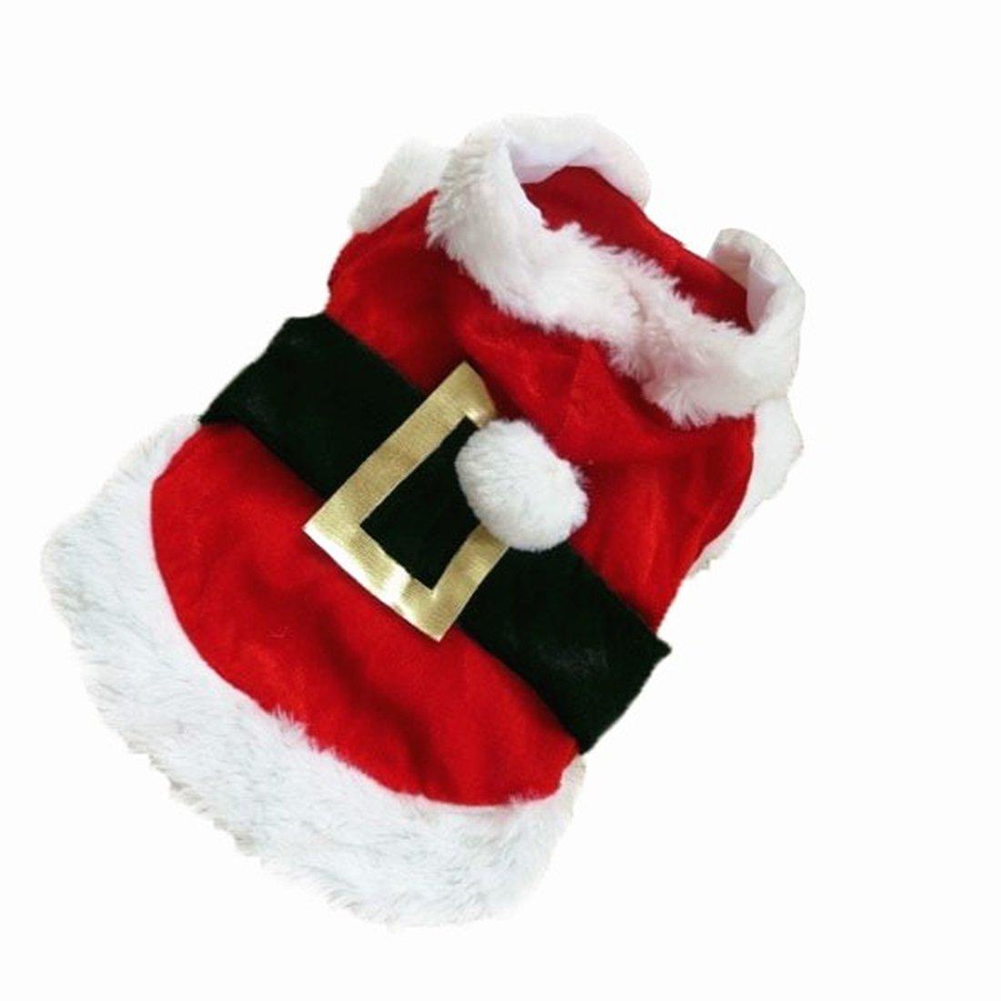 Idepet Nuevo traje de perro de Santa Navidad Algod/ón Ropa para mascotas Abrigo con capucha de invierno Ropa para perros Ropa para mascotas Chihuahua Yorkshire Caniche