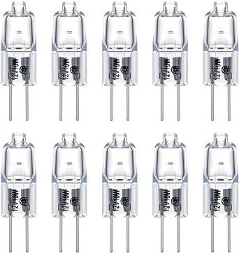 Ampoule Halogène Lampe 5 W watts 12V volts G4 longue vie Pack 6 Ampoules
