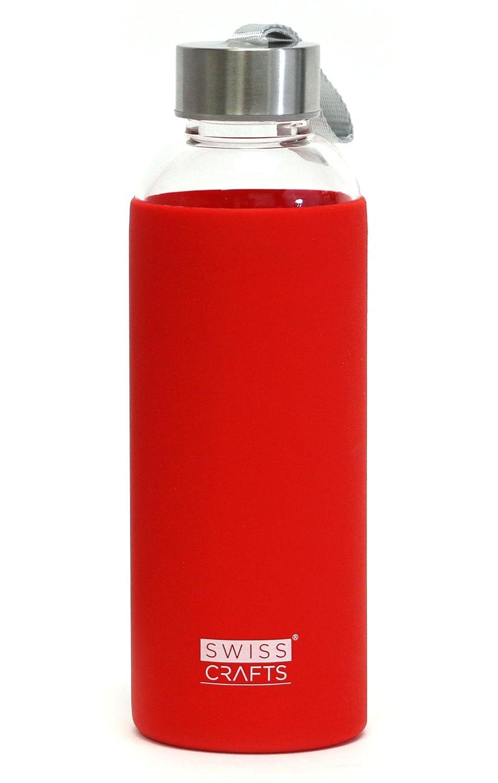 誠実 スイスCrafts – 18.5 Toxic Ozガラス水ボトル – 保護用シリコンスリーブleak-proofキャップsleek-bpaフリー レッド、Eco Friendly、non- Toxic – Break Resistantホウケイ酸ガラス 1 SET レッド 1 SET レッド B07DX94SPP, WOODNET:2b71431d --- a0267596.xsph.ru