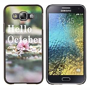 - Hello October - - Cubierta del caso de impacto con el patr??n Art Designs FOR Samsung Galaxy E5 E500 Queen Pattern