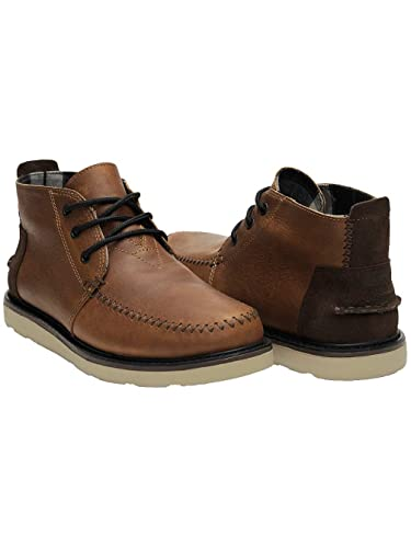 cb5b532182e TOMS Men's Chukka Boot Waterproof/Brown Leather Boot