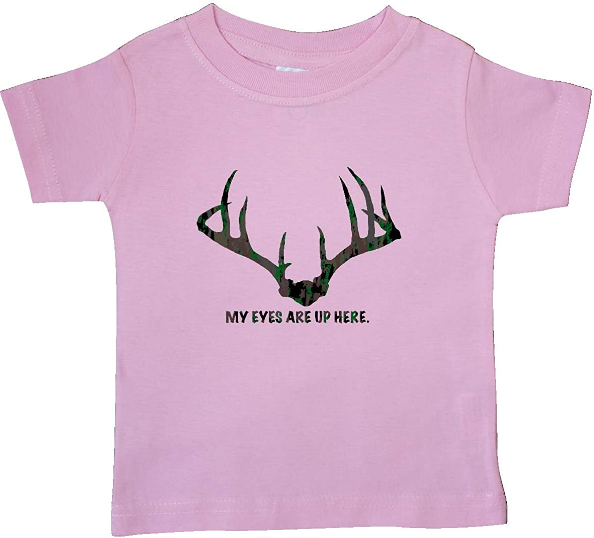 inktastic My Eyes are Up Here Baby T-Shirt