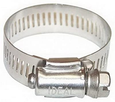 """5 Packs of 10 Ideal Tridon 6260453 Stainless Steel 5//16/""""-5//8/"""" Clamps"""