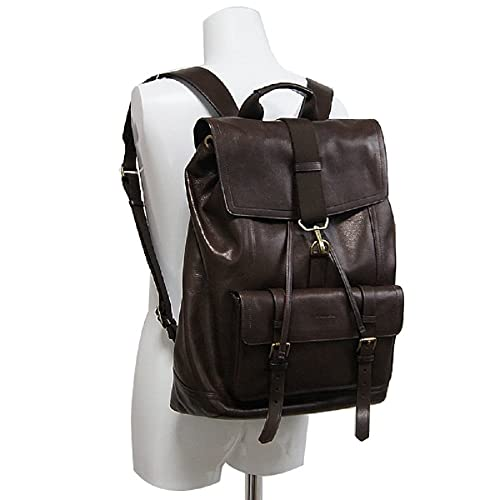 c532ac84ab Coach Bleecker Signature Leather Mahogany Brown Backpack Book Bag ...