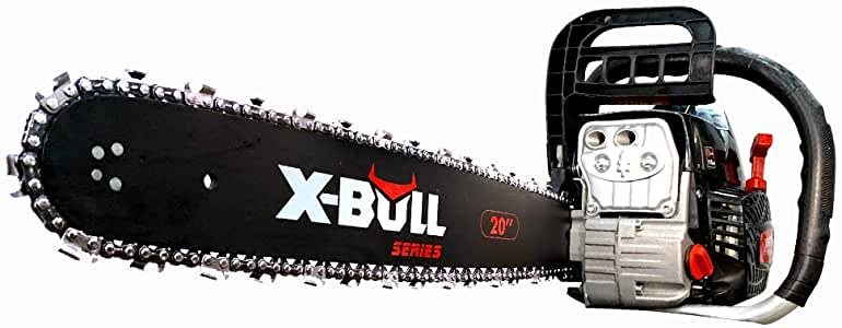 """xbull New 62cc Chainsaw 20"""" Gas Powered Chain Saw E-Start Pruning"""
