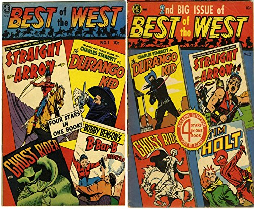 Best of the West. Issues 1 and 2. Straight arrow, Durango Kid, Ghost Rider and Bobby Benson's B-Bar-B Riders. Golden Age Digital Comics Wild West Western.