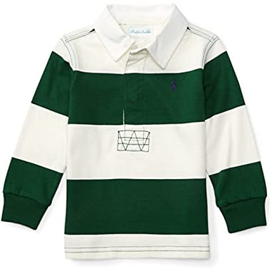 f58306aa7ee Amazon.com: Baby Boys Striped Cotton Jersey Rugby: Clothing