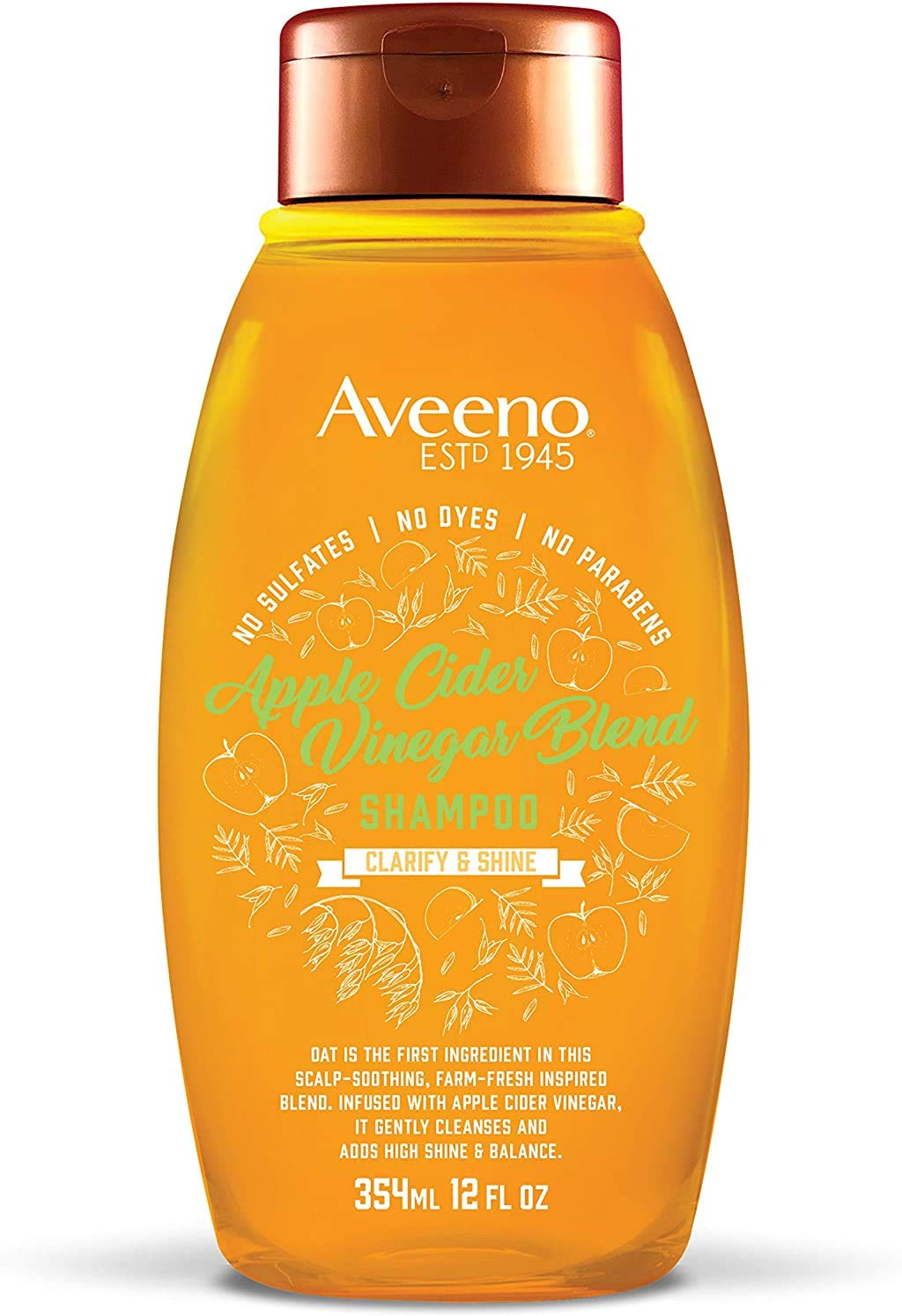 Aveeno Scalp Soothing Shampoo, Apple Cider Vinegar Blend, 12 Fl Oz