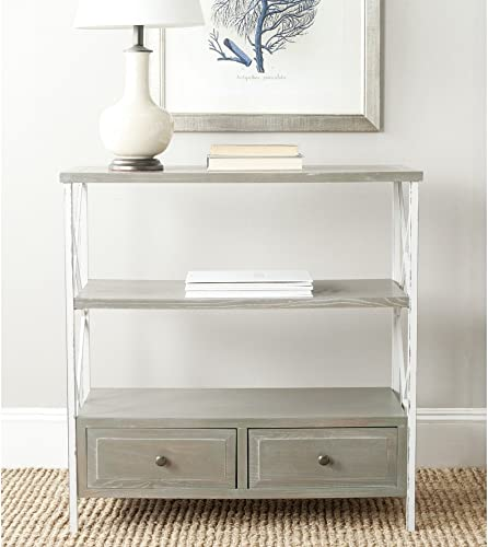 Safavieh American Homes Collection Chandra Console Table, French Grey White Smoke