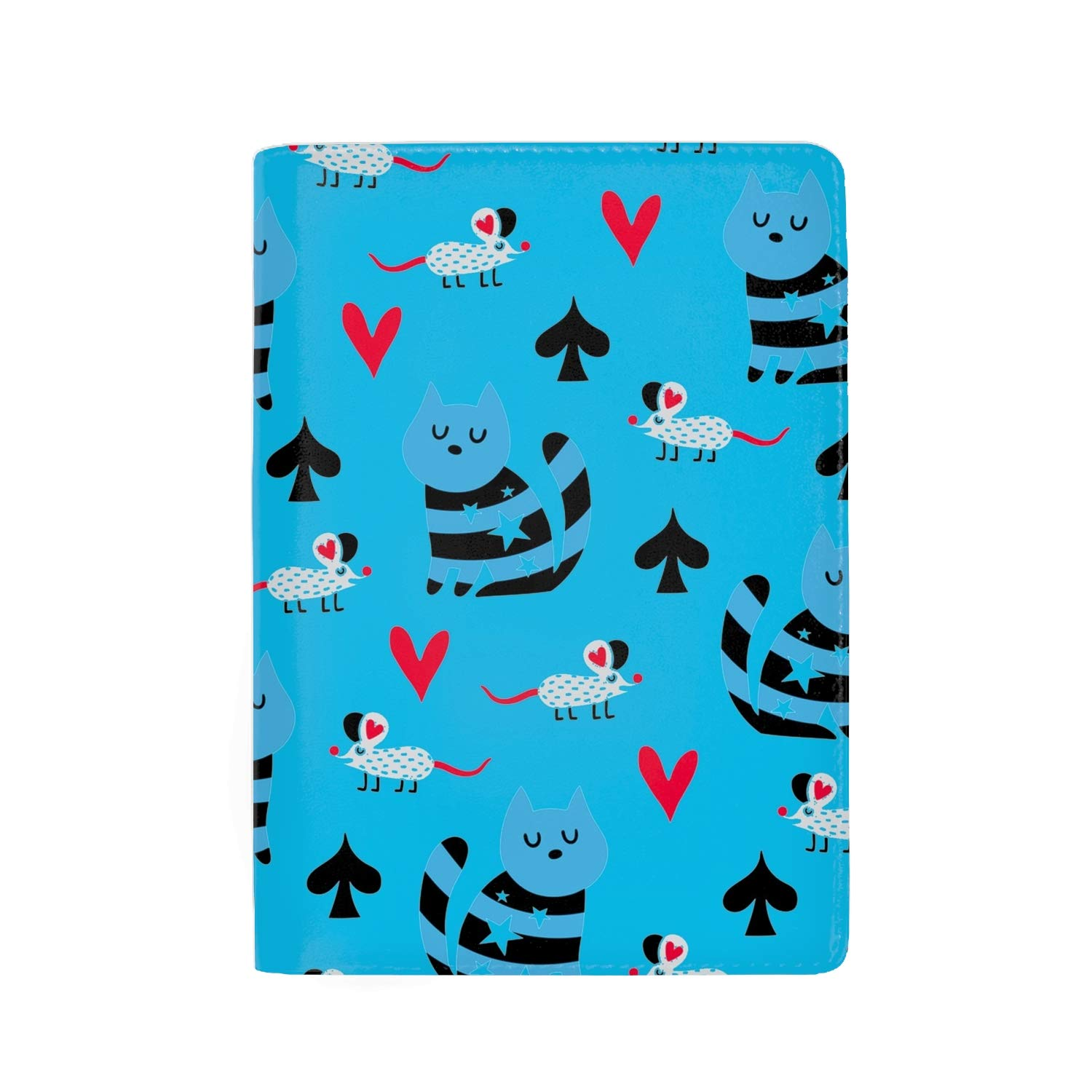 Passport Holder Cover RFID Blocking Case Travelling Passport Cards Carrier Wallet Case Cute Mouse Pattern