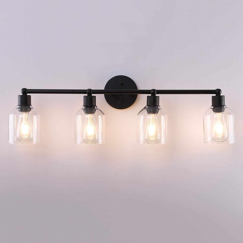 BLACK Vanity Light FixtureRustic Light for BathroomFarmhouse LightingMason Jar FixtureModern LightingBathroom LightWall LightPendant