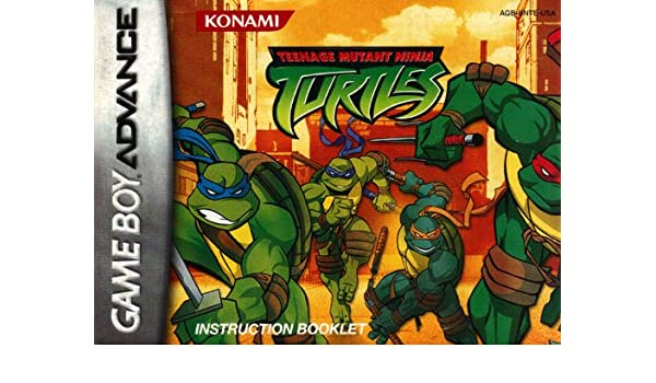 Teenage Mutant Ninja Turtles GBA Instruction Booklet (Game ...
