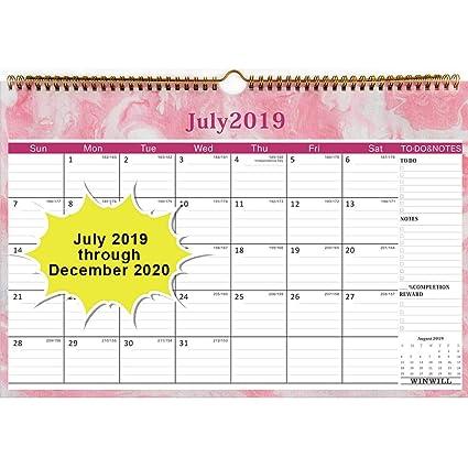 Doe Calendar 2020 18.Wall Calendar 2019 2020 Academic Year Monthly Wall Calendar 2019 2020 Wirebound 12 X 17 Calendar Planner 2019 2020 18 Month For Organizing