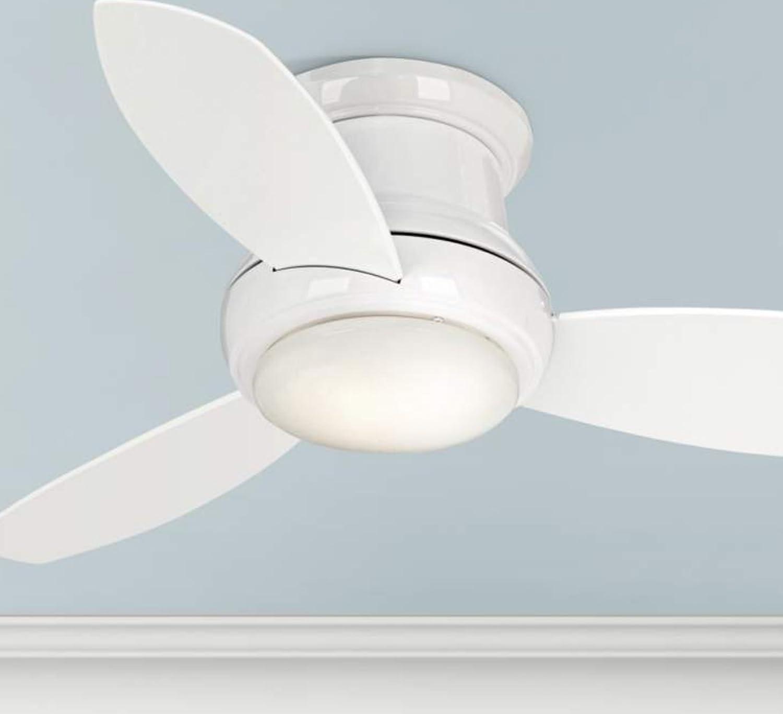 Minka-Aire F518L-WH, Concept II LED White Flush Mount 44\