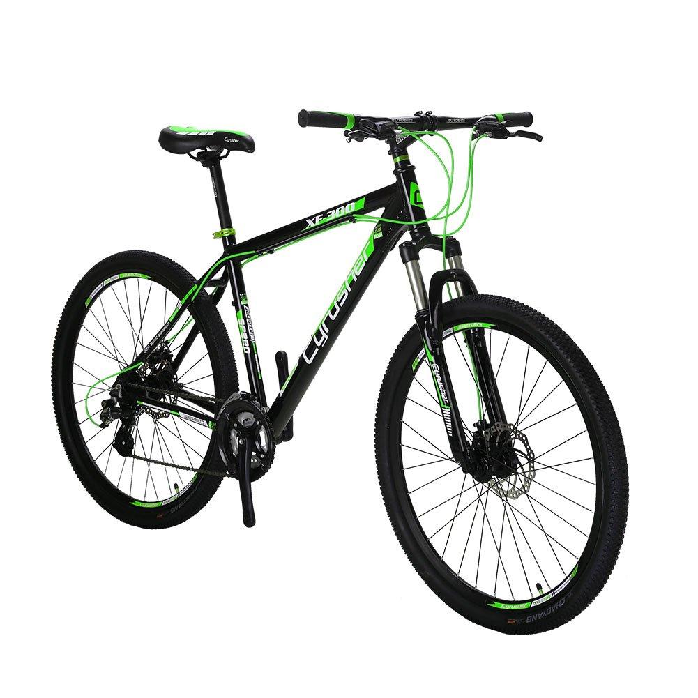 Extrbici XF300 自転車 マウンテンバイク MTB シマノ24段変速 タイヤ27.5インチ アルミフレーム ディスクブレーキ B0734QT8RW緑