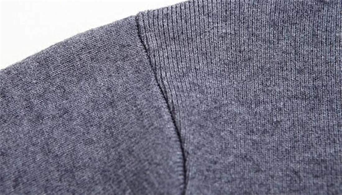Domple Mens Turtleneck Long Sleeve Solid Winter Pullover Soft Warm Knitting Sweater
