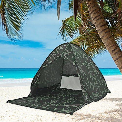 ワンタッチテント ビーチテント カーテン付き 2-3人用 日よけ サンシェードテント UVカット アウトドア キャンプ