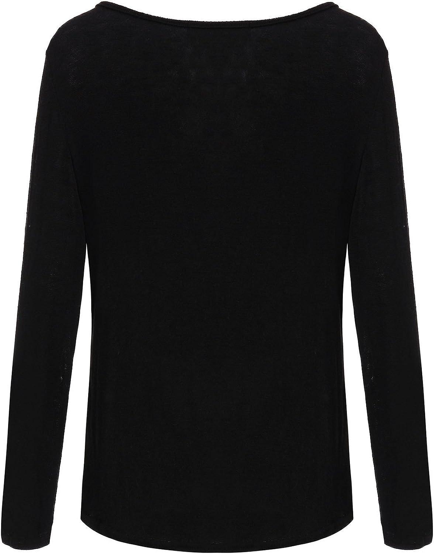 ZANZEA Mujer Camisetas Holgada Cardigan Manga Larga Suelta Blusa Jersey Pullover Casual Tops