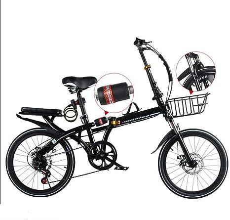 Bove 6 Velocidades Folding Bicicleta Plegable Amortiguadores Doble Disco Frenos Bicicleta Montaña Velocidad Variable Resistente Y Ligero Sin Herramientas Bicicleta Urbana Unisex: Amazon.es: Deportes y aire libre