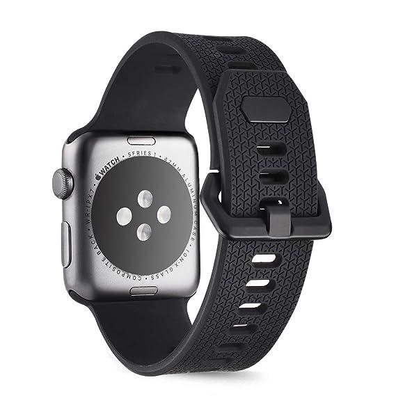 c4bce3ffa Goton Sport Watch Band Apple Watch Series 4 3 2 1, Soft Silicone Watch  Straps