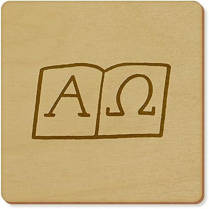 6 x Símbolos Alfa y Omega Cuadrado Posavasos (CR00099857 ...