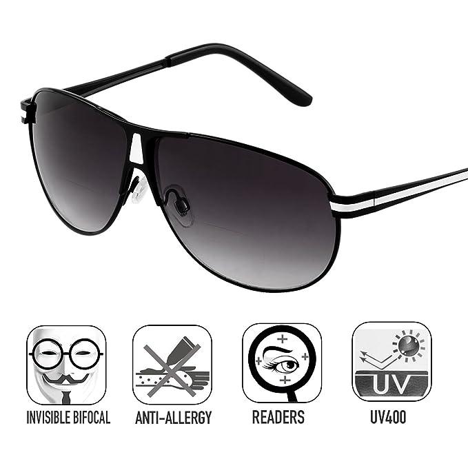9be9824d282 Bifocal Sunglasses Readers for Women Men Outdoor Reading Glasses UV400 by  O-LET (Black