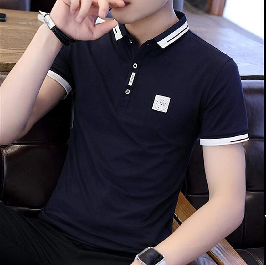 C/&H Men Sports Tee Polos Slim Fit Short Sleeve Top T-Shirt