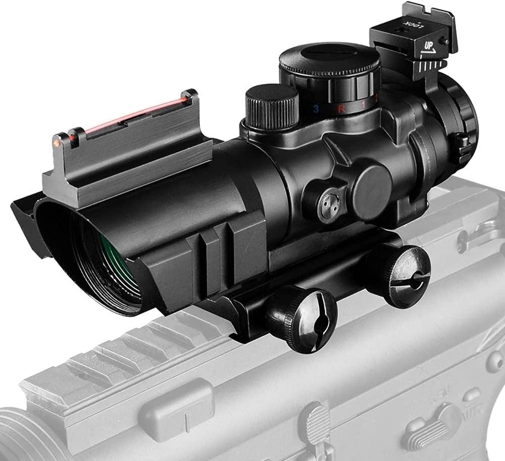 AYWJ Hunting Sight 4x32 Acog Riflescope 20mm Dovetail Reflex Optics Scope Sight For Hunting Gun Rifle Airsoft Sniper Magnifier