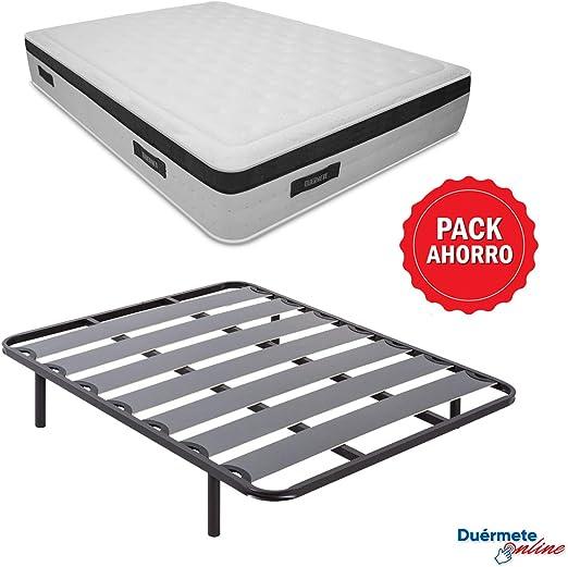 Duérmete Online - Pack Ahorro Cama Completa con Colchón ...