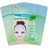 Korean Face Mask Sheet Green Tea 12 Mask Pack for Acne and Anti-Aging