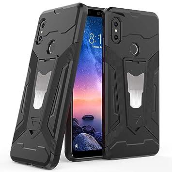 Ferilinso Funda para Xiaomi Redmi Note 6 Pro, Híbrido Armadura Holster Defender Protección Corporal Completa Heavy Duty Hard Bumper Case con Kickstand ...