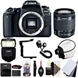 Canon EOS 77D 24.2MP Digital SLR Camera with 18-55mm EF-IS STM Lens , 430EX lll Non RT Flash and Accessory Bundle