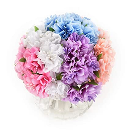 Amazon Mini Flowers Bouquet In Bulk Wholesale For Crafts Silk