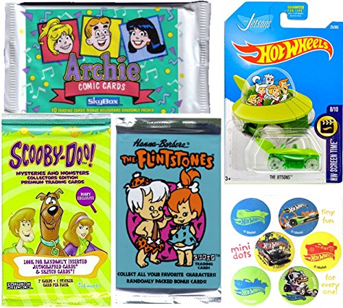 ars & Trading Cards Scooby-Doo The Flintstones Archie Comics & The Jetsons Capsule Ship Character Car Fun Set Stickers & hobby Cards (Scooby Doo Cartoon Characters)