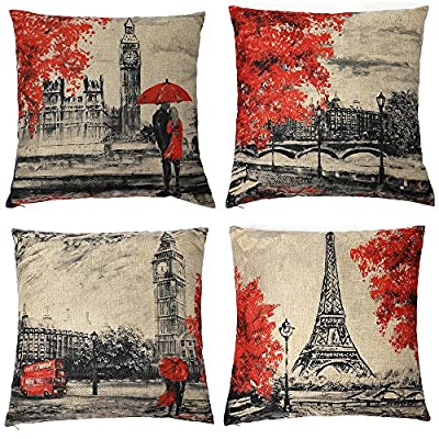 Kate Tower Throw Pilow Cover Modern Art Home Decor