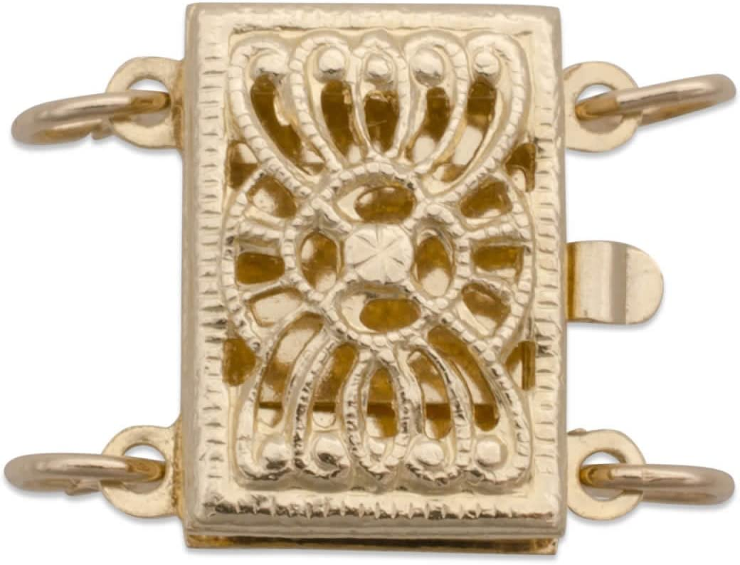 925 Sterling Silver Filigree 14K Gold Filled Filigree strand Necklace Tube Clasp