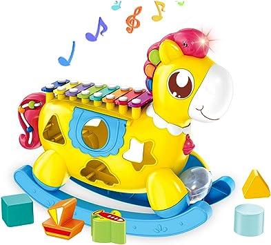 STOTOY Juguete Xil/ófono Para Beb/é Juguetes Musicales Para Beb/és Con Bloques de Construcci/ón Juguete Educativo Para Ni/ños Peque/ños Para Ni/ña de 1 a 2 A/ños Regalo de Cumplea/ños