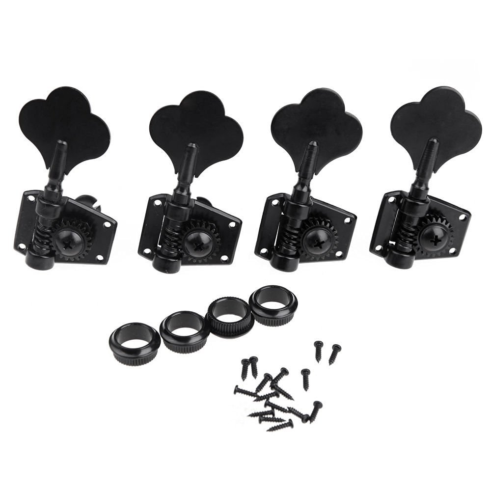 Lanpeed 4R Jazz P Bass Black Tuning Keys Pegs Machine Head Tuners Lanpeed-4R Bass Black Tuners