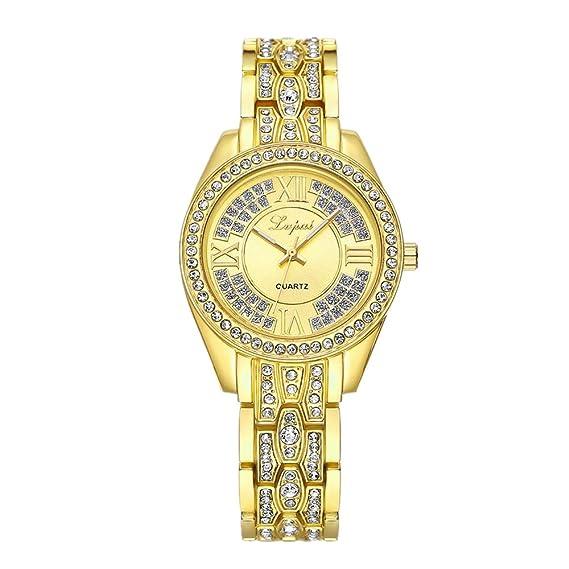 lvpai diamante de la mujer reloj de pulsera con segunda mano analógico cuarzo P107