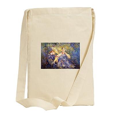 Little Flute Players (Morisot) Canvas Sling Tote Bag