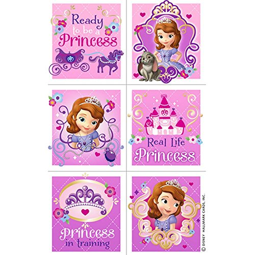 Disney Sofia the First Party Sticker Sheets 4 Pack