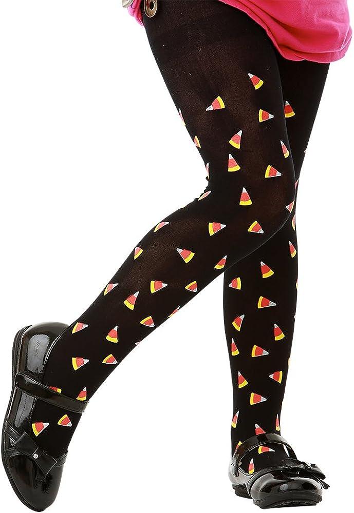 Candy Corn Black Tights | Kids Halloween Costume & Dress Up Stockings