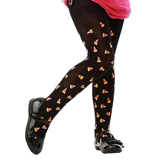 273feb7ae8bf1 Black Mid-Rise Candy Corn Halloween Children's Cosplay Costume Tights  (Medium)