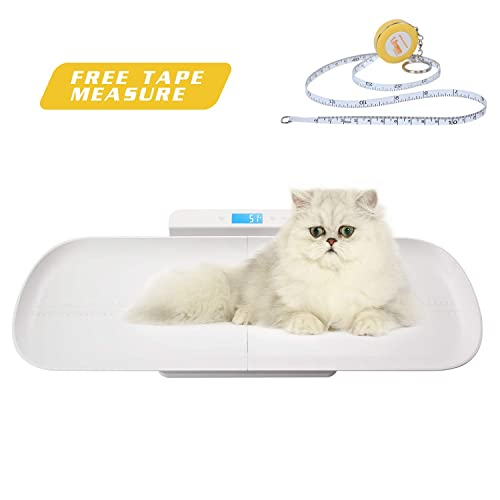 BYKAZATY Pet Scale with Tape Measure Multi-Function Baby Scale, Infant Scale Digital Weight