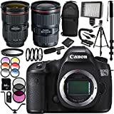 Canon EOS 5DSR DSLR Camera with EF 24-70mm f/2.8L II USM Lens & EF 16-35mm f/2.8L III USM Lens 30PC Accessory Kit - Includes 64GB Memory Card + MORE