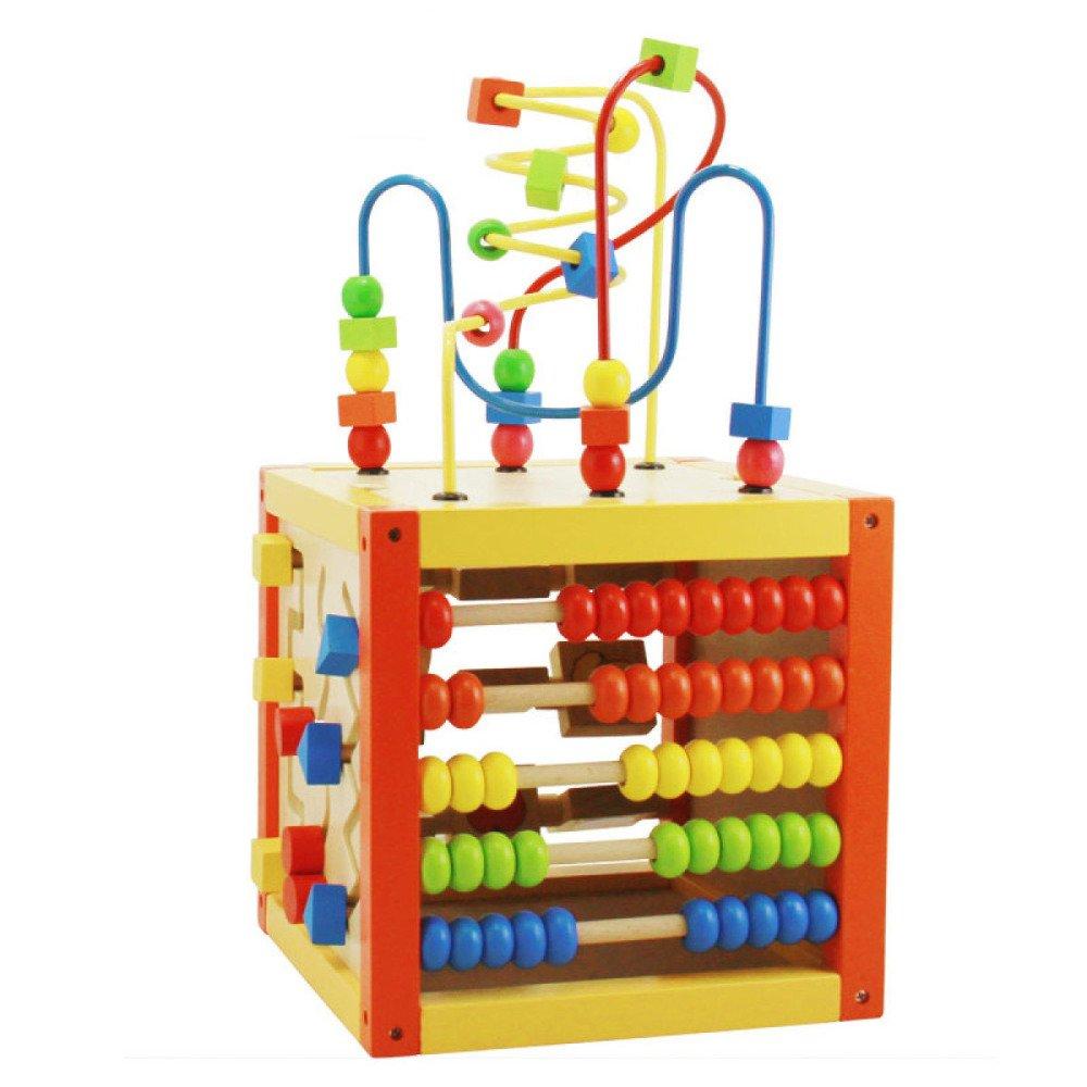 KYOKIM Juguetes para Niños Bloques Puzzle Caja De Inteligencia Multifuncional De Cuentas con Educación Temprana Juguetes