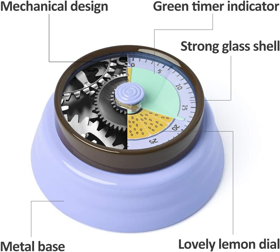 Visual Timer,Kitchen Timer Manual Cute Magnetic Backing,Mechanical ...