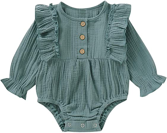 UK Newborn Baby Plaid Jumpsuit Infant Kids Bodysuit Rompers Tracksuit Playsuit