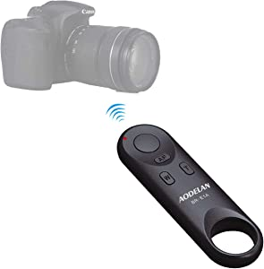 AODELAN Wireless Remote Control Camera Shutter Release- Shooting Photos and Videos - Works for Canon EOS M50,EOS Rebel T7i,EOS Rebel SL2, 200D,77D, EOS R,G5x Mark II,Replace Canon BR-E1