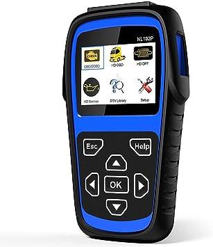 Escáner OBD2, LUMNX-NL102P + FBA Herramienta de escaneo para camiones de servicio pesado Escáner automático con DPF/Calibración del sensor/Restablecimiento de aceite + Comprobar motor: Amazon.es: Salud y cuidado personal